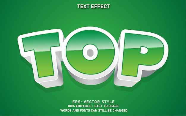 Nowoczesny efekt edytowalnego stylu tekstu