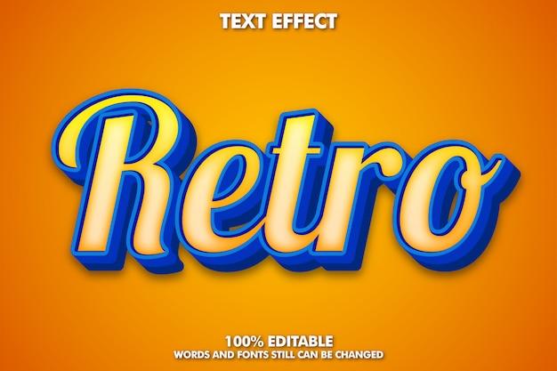 Nowoczesny efekt retro tekstu