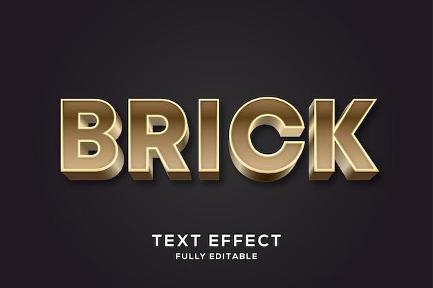 Nowoczesny efekt stylu tekstu brick