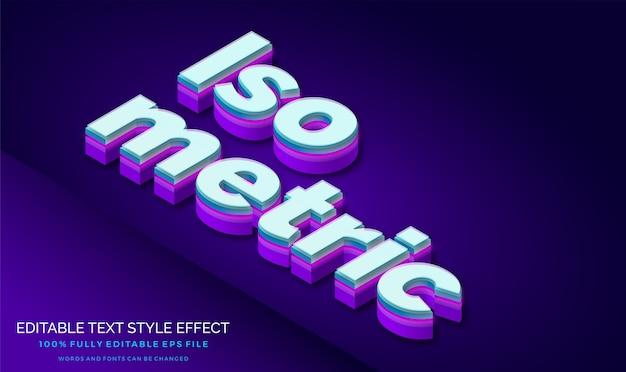 Nowoczesny efekt stylu tekstu izometrycznego