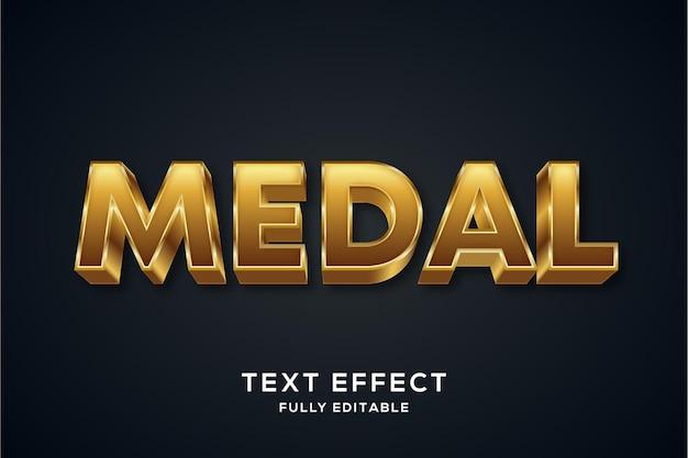Nowoczesny efekt stylu złotego tekstu