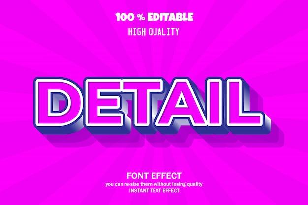Nowoczesny efekt tekstowy 3d, edytowalna czcionka