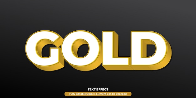 Nowoczesny efekt tekstowy 3d w kolorze złotym
