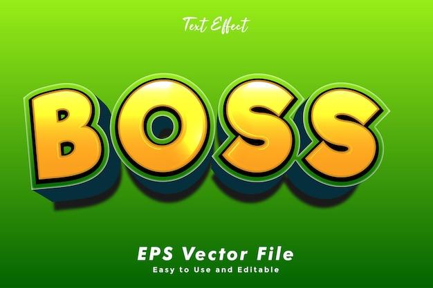 Nowoczesny efekt tekstowy boss