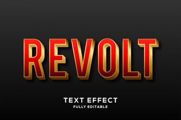 Nowoczesny efekt tekstowy czerwono-złoty