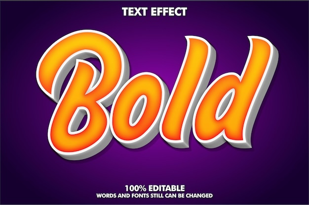 Nowoczesny efekt tekstowy dla szablonu typografii 3d współczesnej kultury