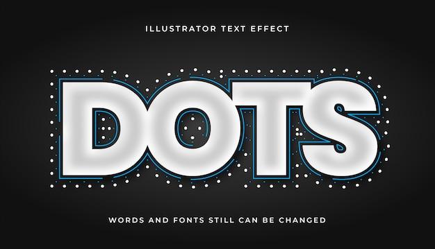 Nowoczesny efekt tekstowy kropek edytowalnych