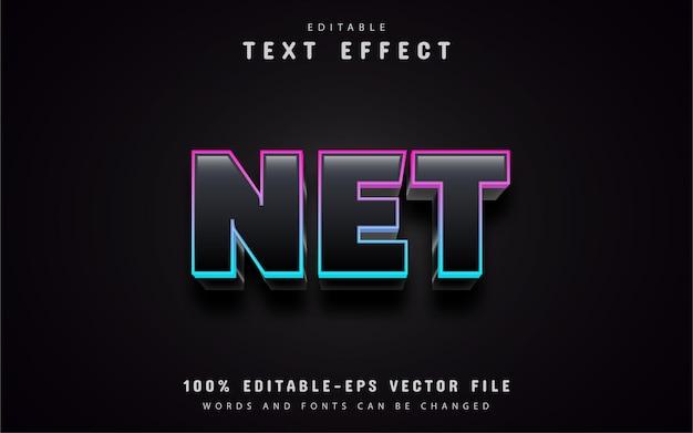 Nowoczesny efekt tekstowy netto gradientu