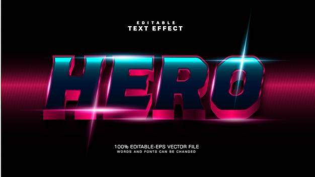 Nowoczesny efekt tekstowy w stylu bohatera