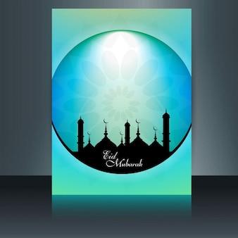 Nowoczesny eid mubarak ulotki