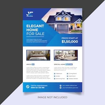 Nowoczesny elegancki dom na sprzedaż szablon ulotki nieruchomości
