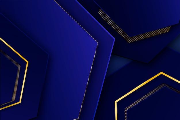 Nowoczesny elegancki wygaszacz ekranu ze złotymi detalami