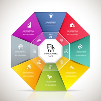 Nowoczesny element projektu infografika transparent.