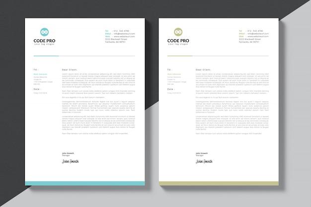 Nowoczesny firmowy papier firmowy