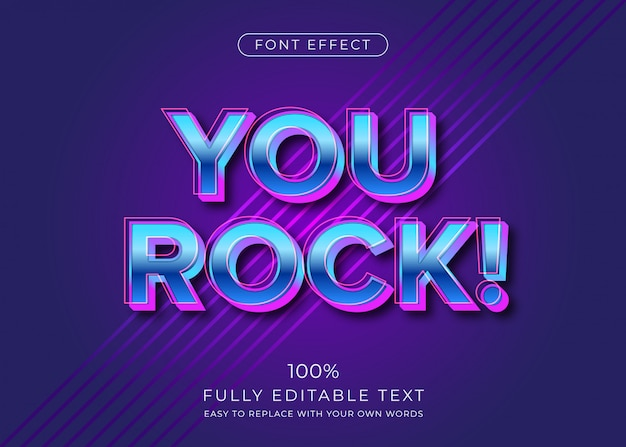 Nowoczesny futurystyczny styl tekstu 3d. efekt czcionki