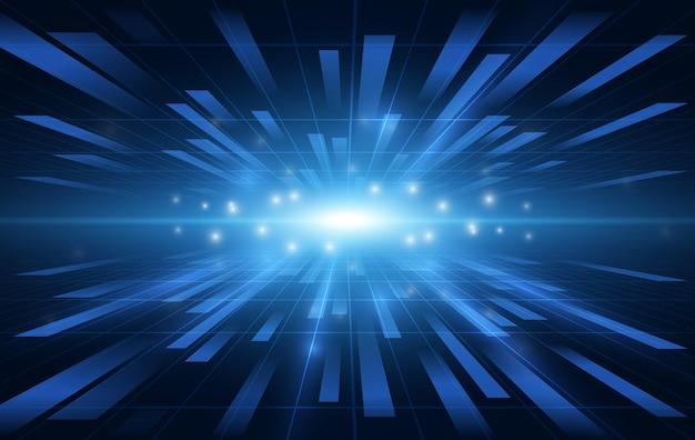 Nowoczesny futurystyczny szablon technologii