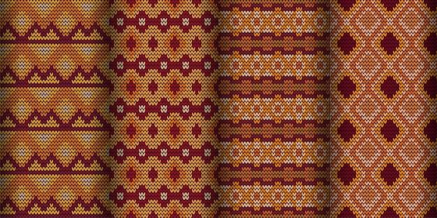Nowoczesny geometryczny wzór tła. klasyczna tapeta batikowa. zestaw