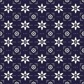 Nowoczesny geometryczny wzór tła. klasyczna tapeta batikowa.