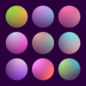 Nowoczesny gradient 3d z okrągłym streszczenie
