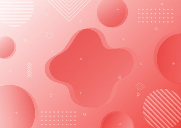 Nowoczesny gradient różowy streszczenie geometryczny kształt. tło w stylu memphis.