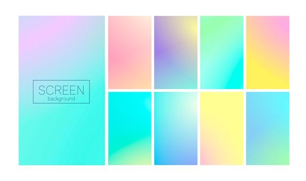 Nowoczesny gradient zestaw abstrakcyjne tło