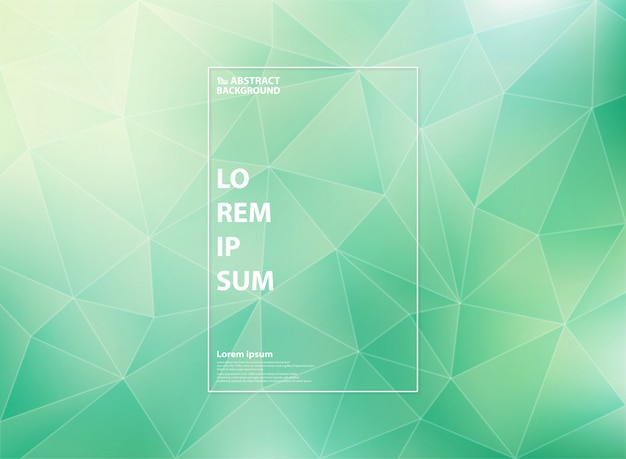Nowoczesny gradient zielony mięta trójkąta niskiej wielokąta wzory