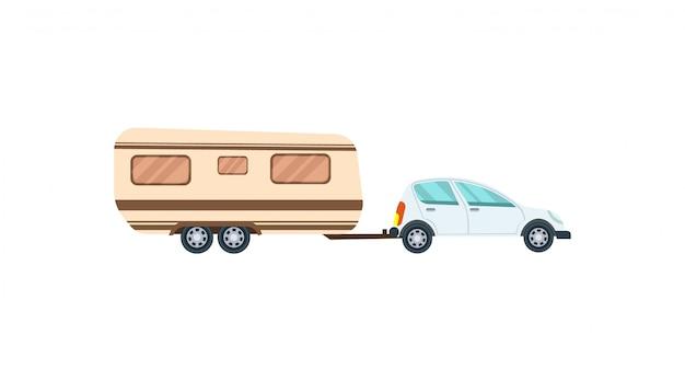 Nowoczesny hatchback z ikoną przyczepy