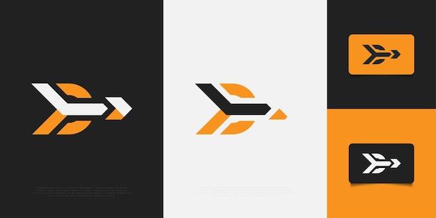 Nowoczesny i abstrakcyjny szablon projektu logo litery d z koncepcji strzałki. d symbol twojej firmy firma i tożsamość korporacyjna