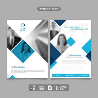 Nowoczesny i czysty szablon broszury