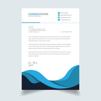 Nowoczesny i czysty szablon papieru firmowego