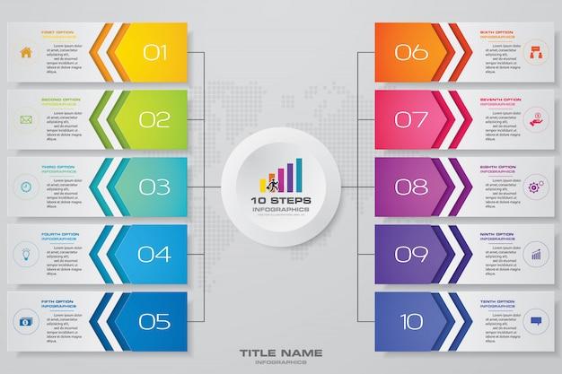 Nowoczesny i edytowalny wykres procesu do prezentacji danych.