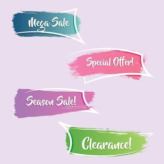 Nowoczesny i elegancki gradientowy baner promocyjny lub sprzedaż wstążki
