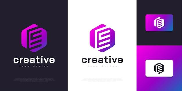 Nowoczesny i kolorowy szablon projektu logo litery e. graficzny symbol alfabetu dla tożsamości biznesowej