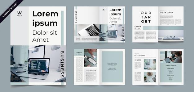 Nowoczesny i minimalistyczny szablon broszury