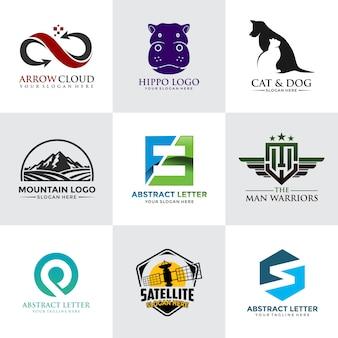 Nowoczesny i minimalistyczny szablon logo