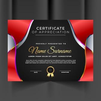 Nowoczesny i niepowtarzalny szablon certyfikatu uznania