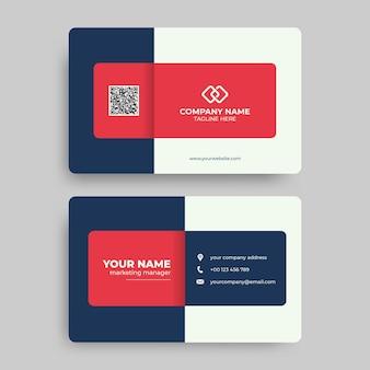 Nowoczesny i profesjonalny szablon wizytówki firmowej