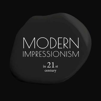 Nowoczesny impresjonizm szablon wektor czarna farba abstrakcyjne media społecznościowe ad