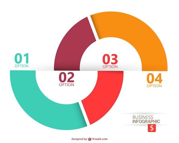 Nowoczesny infografika projekt