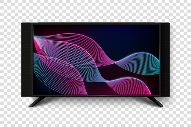 Nowoczesny inteligentny telewizor 3d