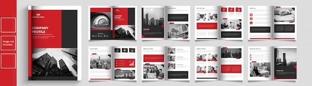 Nowoczesny katalog firm lub szablon broszury