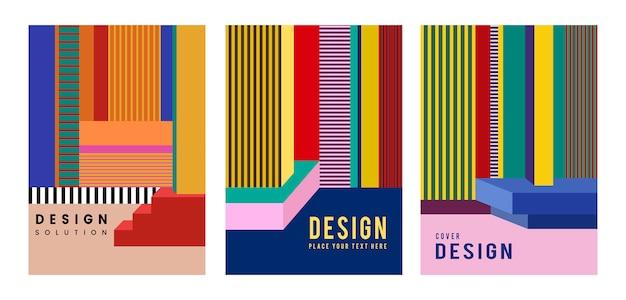 Nowoczesny kolorowy plakat projekt graficzny