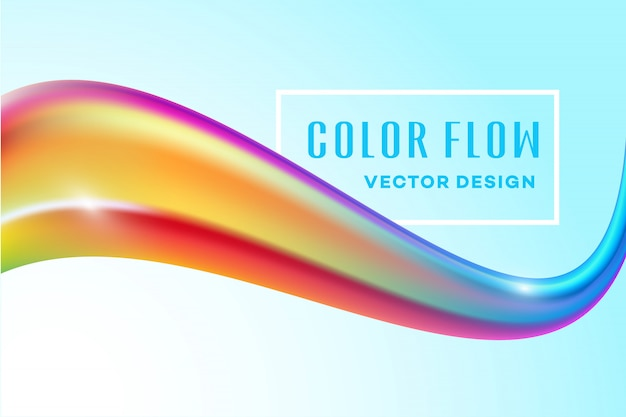 Nowoczesny kolorowy przepływ. fala płynny kształt koloru siatki tła