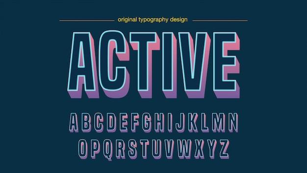 Nowoczesny kolorowy śmiały projekt typografii