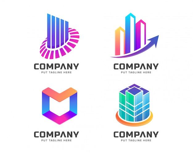Nowoczesny kolorowy szablon logo