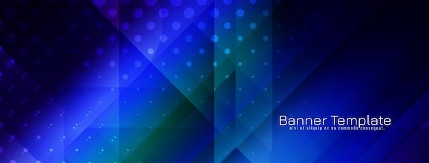 Nowoczesny kolorowy szablon transparentu w stylu geometrycznym