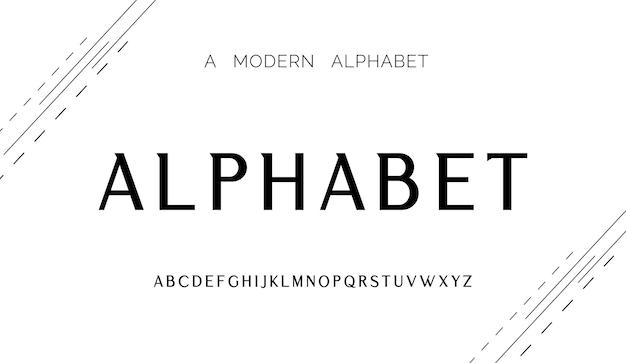 Nowoczesny kreatywny alfabet z szablonem w stylu miejskim