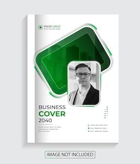 Nowoczesny kreatywny biznes korporacyjny projekt okładki książki premium vector