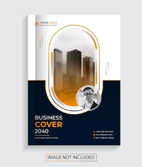 Nowoczesny kreatywny projekt okładki książki dla biznesu premium vector