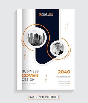 Nowoczesny kreatywny projekt okładki książki korporacyjnej premium vector
